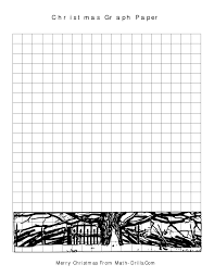 Coordinate Grid Pictures Worksheets Christmas Graph Paper A