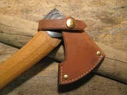 Handmade Swedish Axe - gransfors bruk treeman leather small hatchet sheath treeman knives