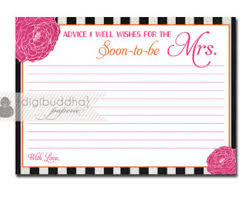 bridal advice cards stripes bloom advice card instant bridal shower