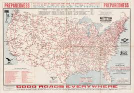 Map Of Highways In The United States by 1915 Map Featuring The National Highways Association Plan For A