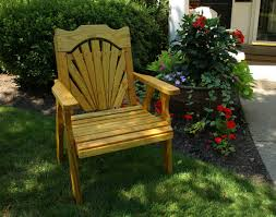 treated pine fanback patio chair
