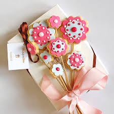 homemade shortbread biscuit bouquets by bisquites