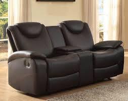 Loveseat Black Leather Homelegance Talbot Black Double Glider Reclining Loveseat 8524bk 2