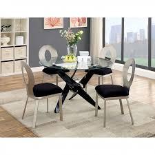 Black Round Dining Room Table by Aero Black Round Dining Set