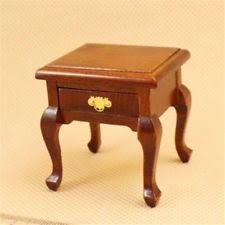 ebay bedside table ls 1 12 dollhouse miniature doll furniture wooden brown bedside cabinet