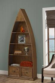 Boat Shelf Bookcase Tuscan Retreat Dinghy Boat 4 Shelves Bookcase With Drawers