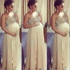 baby shower dress empire beaded maternity prom guest baby shower dress