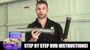 how to install garage door springs how to replace garage door spring youtube