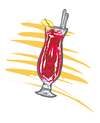 cocktail vector hurricane glass new orleans free vector clip art