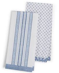 martha stewart collection 2 pc chambray kitchen towel set only