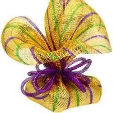 mardi gras mesh deco mesh tubing mesh ribbon