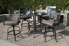 Bar Height Patio Furniture Sets - bar height patio set with swivel chairs 17382