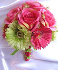 wedding flowers m s wedding bouquets bridal silk flower pink fuchsia green
