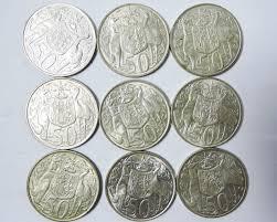 silver 1966 50 cent aussie coins co1727