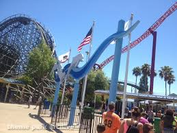 Six Flags Dolphin Swim Entrance At Six Flags Discovery Kingdom Theme Park Archive