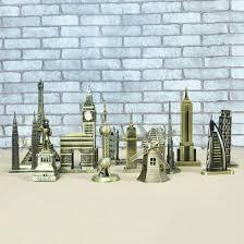 mylifeunit landmarks construction metal building model desktop