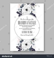 Church Invite Cards Template Anemone Wedding Invitation Card Template Floral Stock Vector