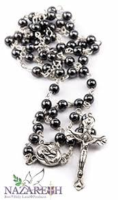 hematite rosary hematite rosary black necklace with jerusalem holy