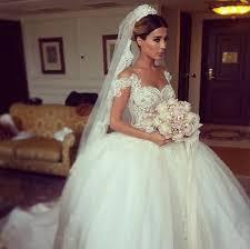 arabic 2016 wedding dresses lace sheer bridal gowns princess ball