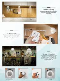 Screws For Kitchen Cabinets by Inlife Under Cabinet Lighting Led Wireless Battery Operated 6