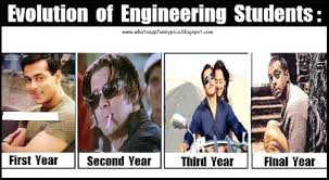 Engineering Student Meme - life of engineering student from first year to final year gags