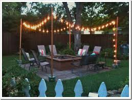 The Patio Flame Party On The Patio Globe Lights Concrete And Globe
