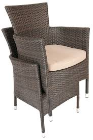 Stackable Wicker Patio Chairs Furniture Cappuccino Rattan Stacking Chair Back Shot Chairs