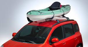 porta kayak per auto accessories merchandising fiat nuova panda