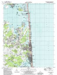 Cape Henlopen State Park Map by Bethany Beach Topographic Map De Usgs Topo Quad 38075e1