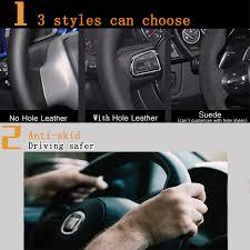 toyota rav4 steering wheel cover shop kunbaby black genuine leather suede car steering