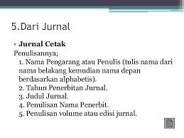 panduan penulisan daftar pustaka dari jurnal penulisan daftar pustaka dan catatan kaki