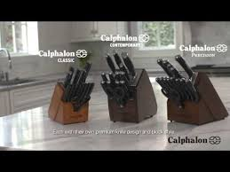 self sharpening kitchen knives calphalon self sharpening cutlery with sharpin