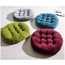 coussin de chaise rond velours décoratif carré rond siège coussin épaississent pouf