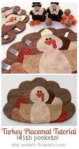 turkey placemats turkey placemat tutorial u create
