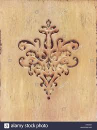 the flower ornament wood carving detail in style