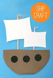 mayflower or pirate ship craft thanksgiving crafts