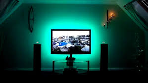 ambient light behind tv lighting for entertainment room with blue amb 29130 asnierois info