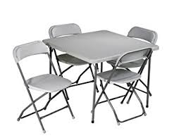 Star Table Amazon Com Office Star Resin 5 Piece Folding Chair And Table Set
