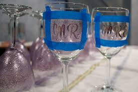 diy monogram wine glasses diy glittered wine glasses style sidebar