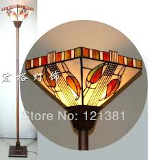 stained glass torchiere l shades torch l shade mission style l floor l stained glass