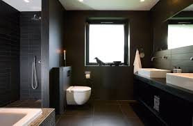 modern bathroom idea modern black bathrooms grousedays org
