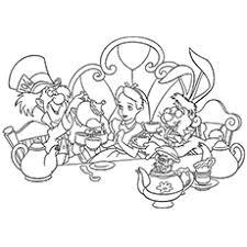 10 free printable alice wonderland coloring pages