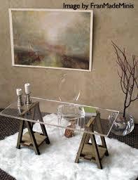 Modern Doll House Furniture by Miniature Ikea Inspired Vika Desk Kit For 1 12 Scale Modern
