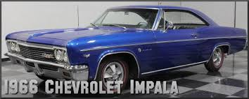 1966 chevrolet impala factory paint colors