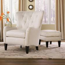Chairs With Ottomans For Living Room Tufted Wing Back Chair With Ottoman By Smith Brothers Wolf And