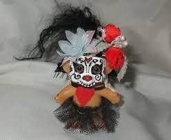 red hearts baby sugar skull troll ooak doll custom repaint remake