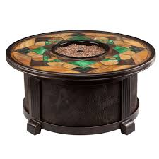 Outdoor Gas Fire Pit Nuriel Outdoor Gas Fire Pit With Stained Glass Top