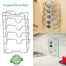 kitchen cabinet door pot and pan lid rack organizer wall mount pot pan lid storage rack steel kitchen cabinet door holder space wish