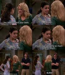 That 70s Show Meme - jackie vs laurie in a insult argument on that 70 s show