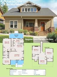 plan 50124ph bungalow house plan with flex room bungalow